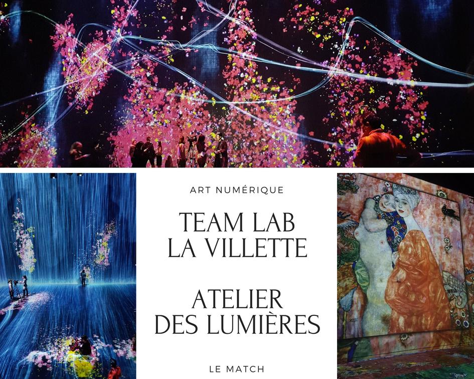 Art numérique : Team Lab La Villette ou Atelier des Lumières ?