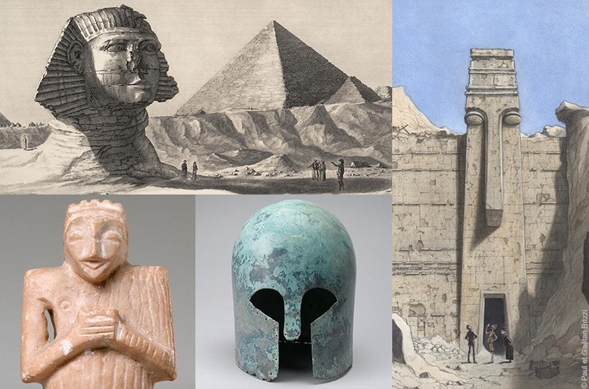 Le Louvre fait dialoguer l'archéologie et la bande dessinée